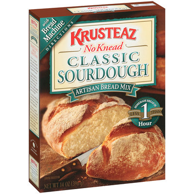 Krusteaz® No Knead Classic Sourdough Artisan Bread Mix 14 oz. Box