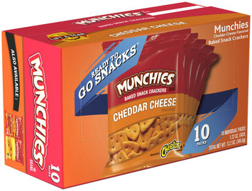 Munchies® Brand Cheddar Cheese Flavored Baked Snack Crackers 10-1.22 oz. Packs