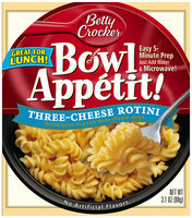 Betty Crocker® Bowl Appetit!® Three-Cheese Rotini 3.1 oz. Bowl
