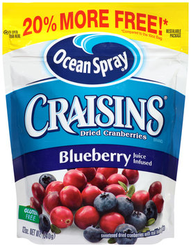 Ocean Spray® Craisins® Blueberry Dried Cranberries 12 oz. Pouch
