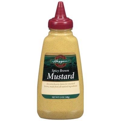 Haggen Spicy Brown Mustard 12 Oz Squeeze Bottle
