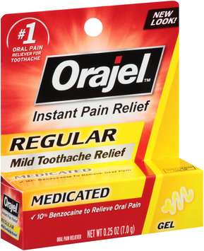Orajel™ Regular Strength Gel Oral Pain Reliever for Toothache 0.25 oz. Box