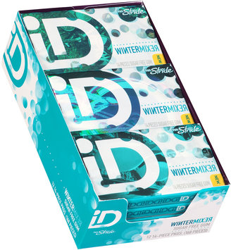 iD from Stride Wintergreen Sugar Free Gum 12-14 Piece Packs
