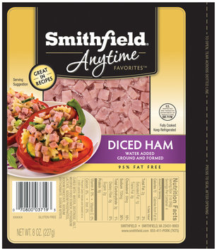 Smithfield® Anytime Favorites™ Diced Ham 8 oz. Pack