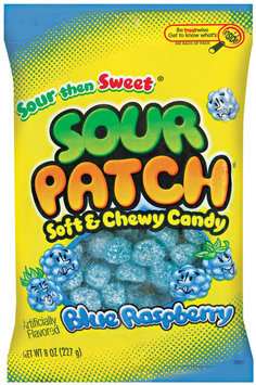 Sour Patch Bags Soft & Chewy Sour Then Sweet Blue Raspberry Candy