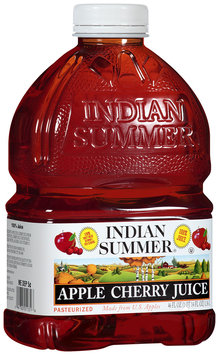 Indian Summer 100% Apple Cherry Juice 46 fl oz Plastic Bottle