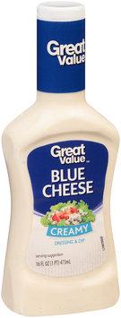 Great Value™ Creamy Blue Cheese  Dressing & Dip 16 fl. oz. Plastic Bottle