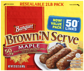 Banquet® Brown'N Serve™ Maple Sausage Links 32 oz. Bag