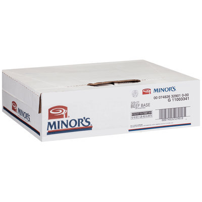 Minor's Beef Base 16 oz. Plastic Container