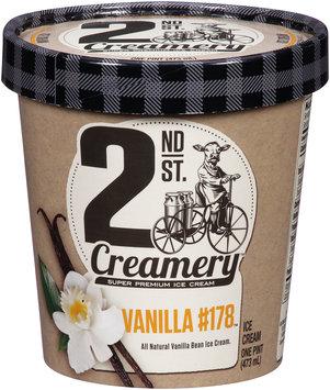 2nd St. Creamery™ Vanilla #178™ Super Premium Ice Cream 1 pt. Carton