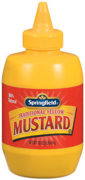 Springfield Traditional Yellow  Mustard 16 Oz Squeeze Bottle