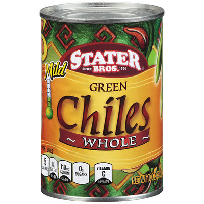 Stater Bros.® Green Chiles Whole Mild 10 oz Can