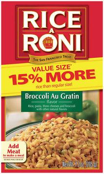 Rice-A-Roni Brocolli Au Gratin Value Size Rice Pasta Mix 7.2 Oz Box