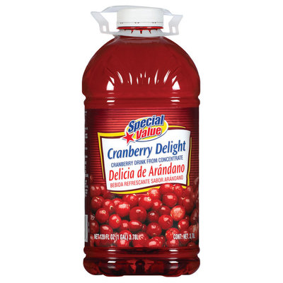 Special Value Delight from Concentrate Cranberry Drink 1 Gal Jug