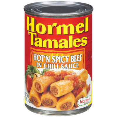 HORMEL Hot'n Spicy Beef In Chili Sauce Tamales 15 OZ CAN