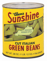 The Allens Sunshine Cut Italian Kentucky Wonder Style Green Beans 28 Oz Can