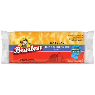 Borden Colby & Monterey Jack Cheese 8 Oz Brick