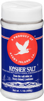 Avery Island® Kosher Salt 1.1 lb. Shaker