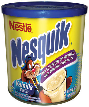 NESQUIK Vanilla Flavored Powder, 12 - 14.1 oz Canisters