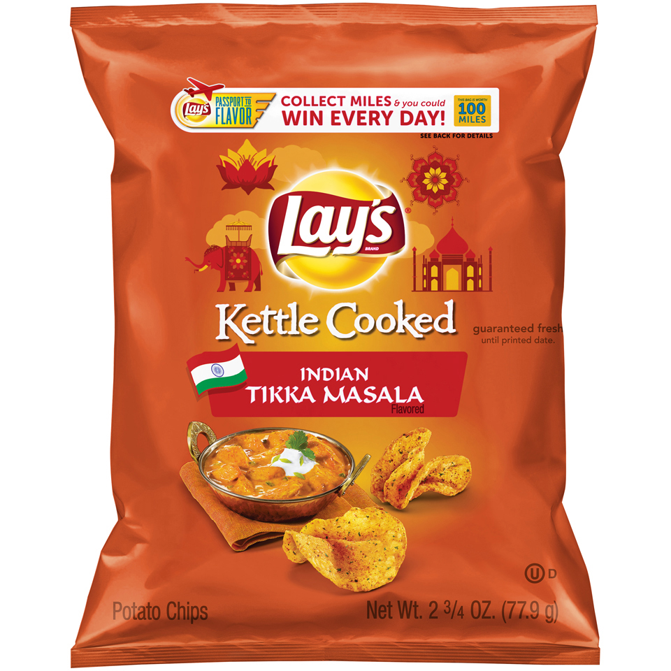 LAY'S® Kettle Cooked Indian Tikka Masala Flavored Potato Chips