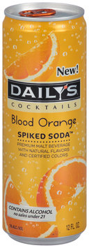 Daily's® Cocktails Blood Orange Spiked Soda™ 12 fl. oz. Can