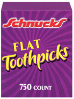 Schnucks Flat Toothpicks 750 Ct Box
