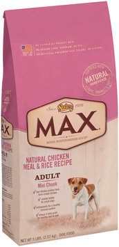 Nutro® Max® Adult Mini Chunk Natural Chicken Meal & Rice Recipe Dog Food 5 lb. Bag