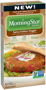 MorningStar Farms® Spicy Indian Veggie Veggie Burgers 4 ct Box