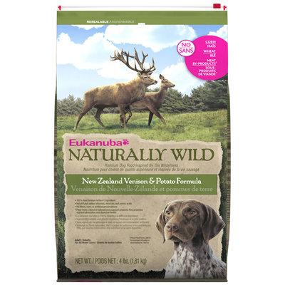 Eukanuba Adult Naturally Wild New Zealand Venison & Potato Formula Dog Food 4 lb. Bag