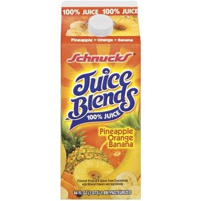 Schnucks Pineapple Orange Banana Juice Blends