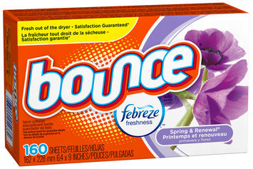 Bounce with Febreze Spring & Renewal Fabric Softener Sheets 160 ct Box