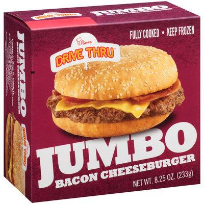 Pierre™ Drive Thru® Jumbo Bacon Cheeseburger 8.25 oz. Box