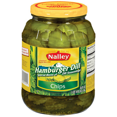 Nalley® Hamburger Dill Chip Pickles 46 fl. oz. Jar