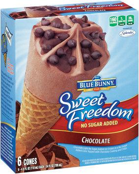 Blue Bunny® Sweet Freedom® Chocolate Ice Cream Cone 4.0 fl oz 6 ct