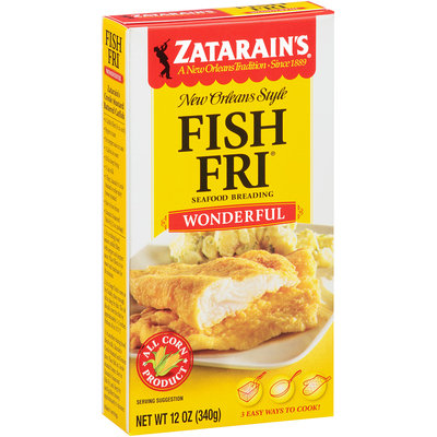 Zatarain's® Fish-Fri® Wonderful Seafood Breading 12 oz. Box