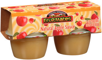 Indian Summer® Fruitmates™ Natural Apple Sauce 4-4 oz. Cups