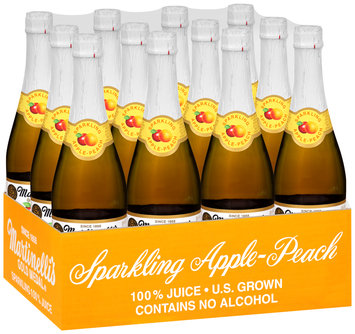 Martinelli's Gold Medal®  Sparkling Apple-Peach 100% Juice 25.4 Fl Oz Glass Bottle