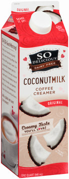 So Delicious® Dairy Free Original Coconutmilk Coffee Creamer 1 qt. Carton