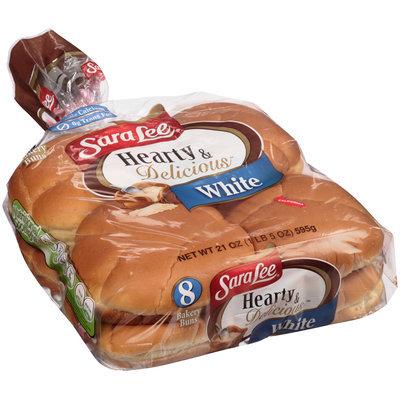 Sara Lee® Hearty & Delicious™ White Bakery Bun 8 ct Bag