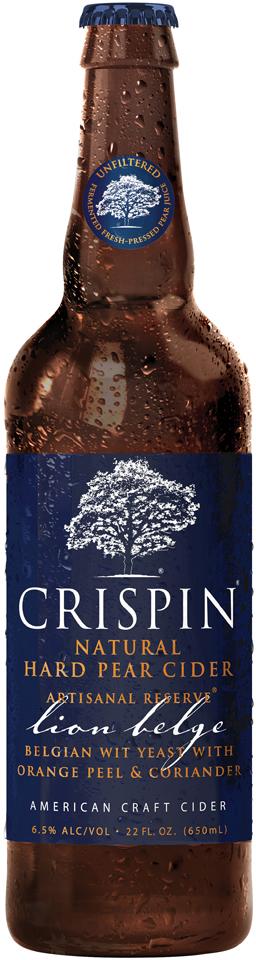 Crispin® Artisanal Reserve® Lion Belge Hard Pear Cider 22 fl. oz. Glass Bottle