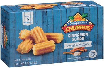 California Churros™ Cinnamon Sugar Crispy Pastry Sticks 8 oz. Box