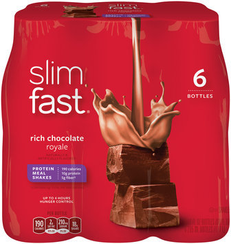 Slimfast® Rich Chocolate Royale Protein Meal Shakes 6 ct Pack
