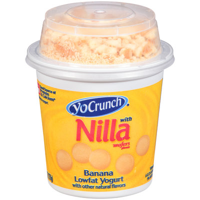YoCrunch® Banana with Nilla Wafers Pieces Lowfat Yogurt 6 oz. Cup