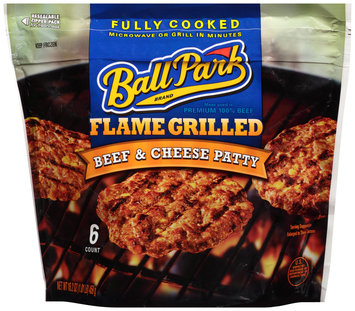 Ball Park® Brand Flame Grilled Beef & Cheese Patty 6 ct Bag
