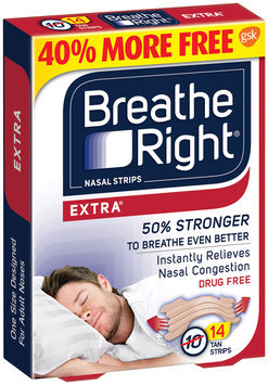 Breathe Right® Extra® Nasal Strips Tan