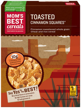 Mom's Best® Cereals Toasted Cinnamon Squares® Cereal 17.5 oz. Box