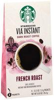 Starbucks® VIA® Instant French Roast Instant Coffee 8 ct Box
