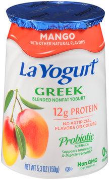 La Yogurt® Mango Greek Blended Nonfat Yogurt 5.3 oz. Cup