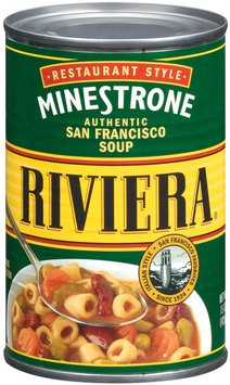 Riviera Restaurant Style Minestrone Soup 15 Oz Can