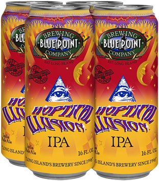 Blue Point Brewing Company Hoptical Illusion IPA Beer 16 fl. oz. Can